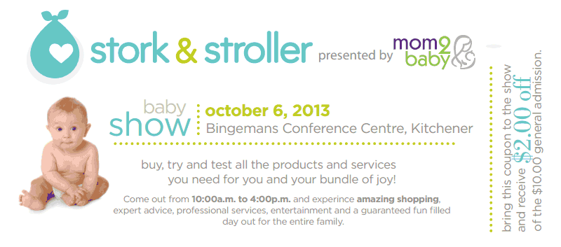 $2 off coupon - Stork and Stroller Show