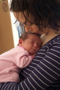 Sherri and baby Celeste.