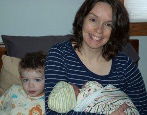 Sherri, Kevin and baby Celeste.